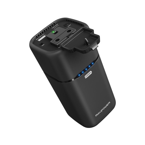 RAVPower 20100 mAh Powerstation with Built-in AC Outlet (65Watt)