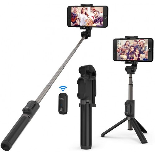 VAVA Bluetooth Selfie Stick & Tripod with Remote Controller 2-in-1