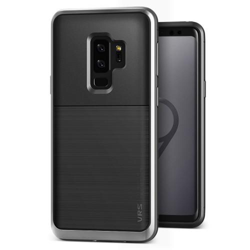 VRS Design High Pro Shield Case for Samsung Galaxy S9 Plus - Steel Silver