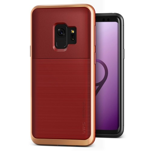 VRS Design High Pro Shield Case for Samsung Galaxy S9 - Red Blush Gold