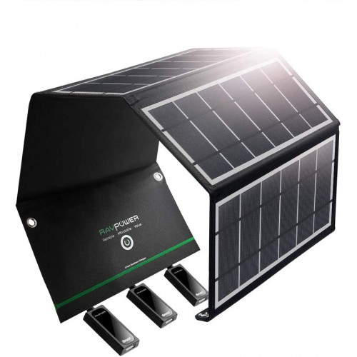 RAVPower 24W Solar Charger - 3 USB Port