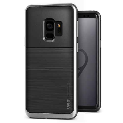 VRS Design High Pro Shield Case for Samsung Galaxy S9 - Steel Silver