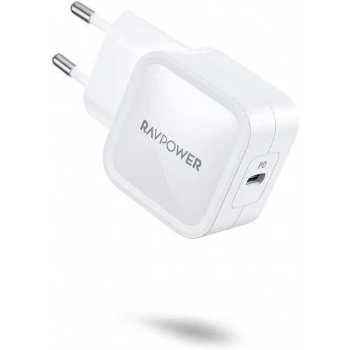 RAVPower Pioneer Ultra Slim PD Charger 30W - White