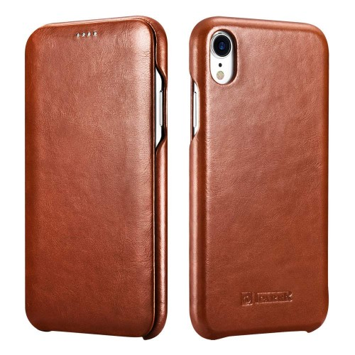 iCarer Vintage Case for iPhone XR - Brown