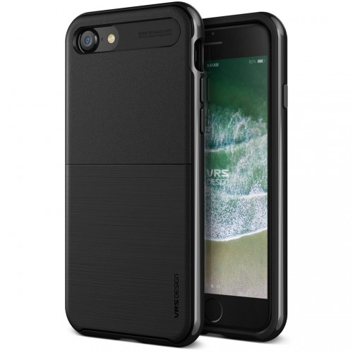 VRS Design High Pro Shield Case for iPhone 7/8 - Metal Black