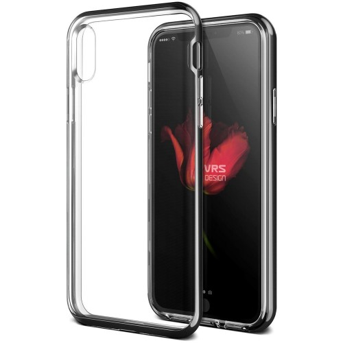 VRS Design Crystal Bumber Case for iPhone X - Metal Black