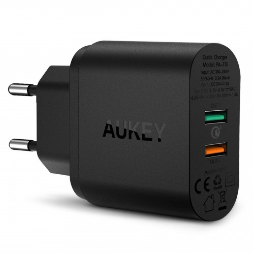 Aukey Dual Port 33W Wall Charger with Quick Charge 3.0