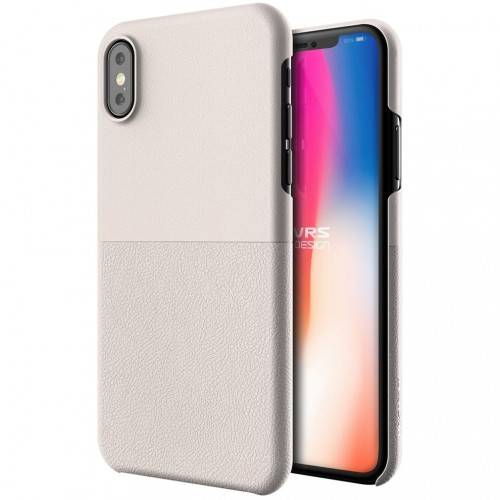 VRS Design Skin Fit Case for iPhone X - Light Pebble