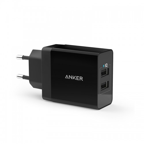 Anker 2-Port USB Charger 24W - Black