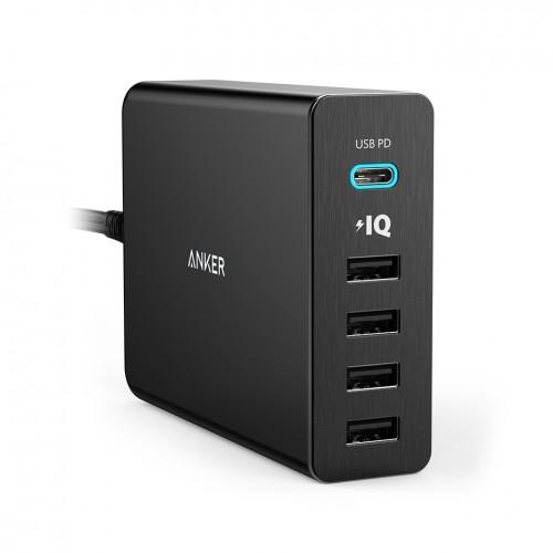 Anker Αluminum PowerPort+ 5 60W & USB-C