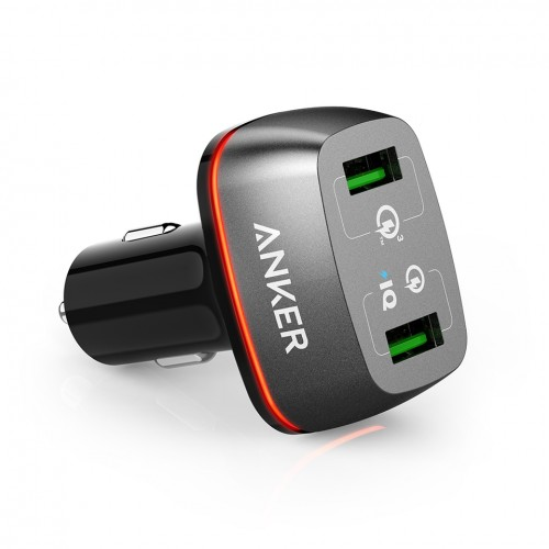Anker PowerDrive+ 2-Port USB Car Charger 42W with Quick Charge 3.0