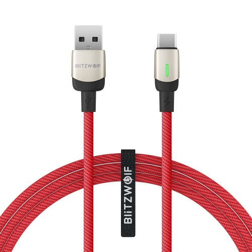 BlitzWolf BW-TC21 USB-C Cable 3A 1m Red