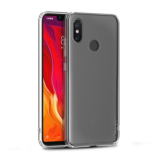 iPaky Effort TPU cover + 9H tempered glass for Xiaomi Mi 8 - transparent