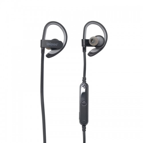 Ipipoo iL92BL Sport Wireless Bluetooth Earphone Earbuds - Gray