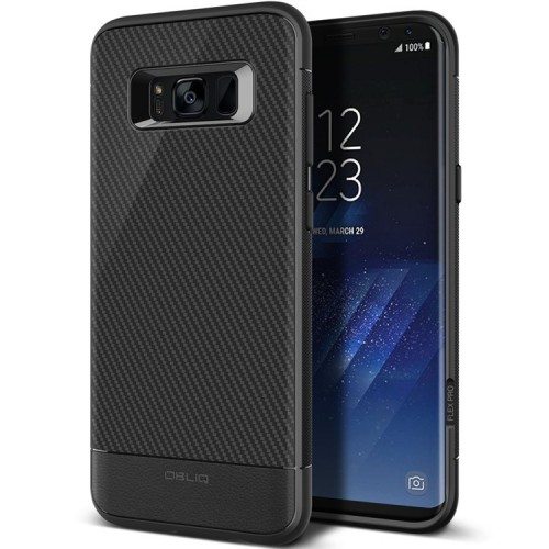 Obliq Flex Pro Case for Samsung Galaxy S8 Plus - Black Carbon