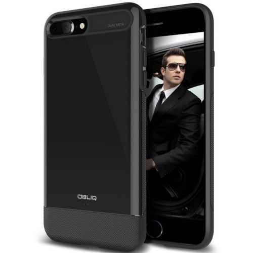 Obliq Dual Meta Case for iPhone 7 Plus - Black