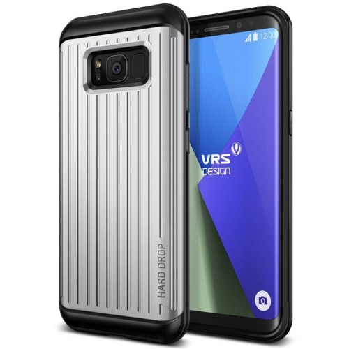 VRS Design Hard Drop Case for Samsung Galaxy S8 - Waved Light Silver